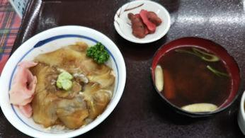 5/2 昼食 ひらめの漬け丼定食  鯵ヶ沢 海の駅わんど