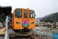 4/7 帰りの電車は薄墨号  樽見駅