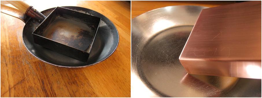 銅フライパン 補修