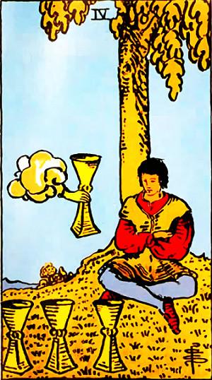 タロットカード『カップ4』 by占いとか魔術とか所蔵画像
