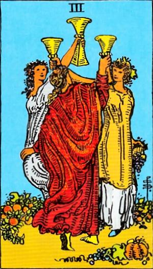 タロットカード『カップ3』 by占いとか魔術とか所蔵画像