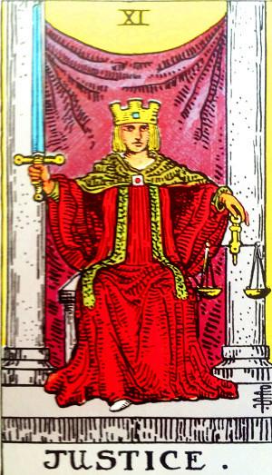 タロットカード『正義』 by占いとか魔術とか所蔵画像