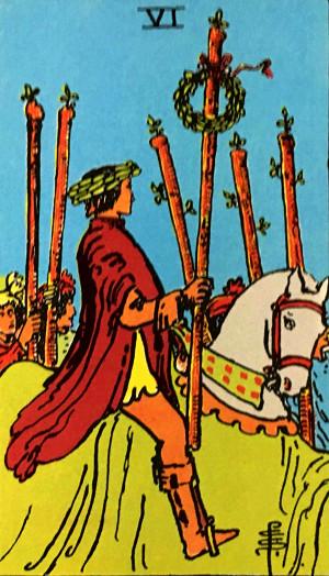 タロットカード『ワンド6』 by占いとか魔術とか所蔵画像