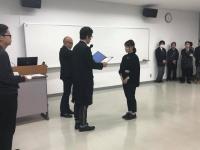 審査員長から表彰式