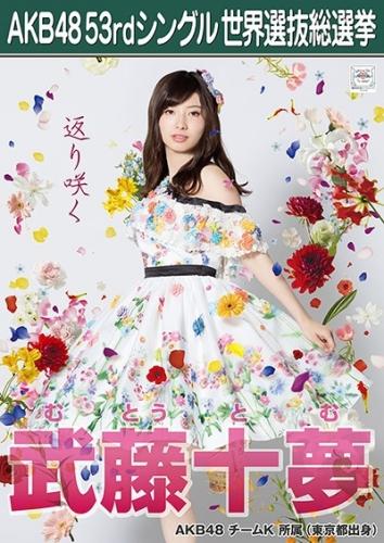 AKB48 53rdシングル 世界選抜総選挙 ポスター 武藤十夢