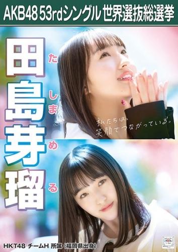AKB48 53rdシングル 世界選抜総選挙 ポスター 田島芽瑠