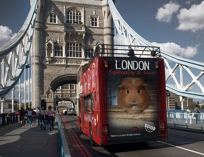 ロンドンの宣伝カー
