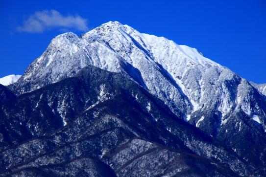 白銀の甲斐駒ヶ岳