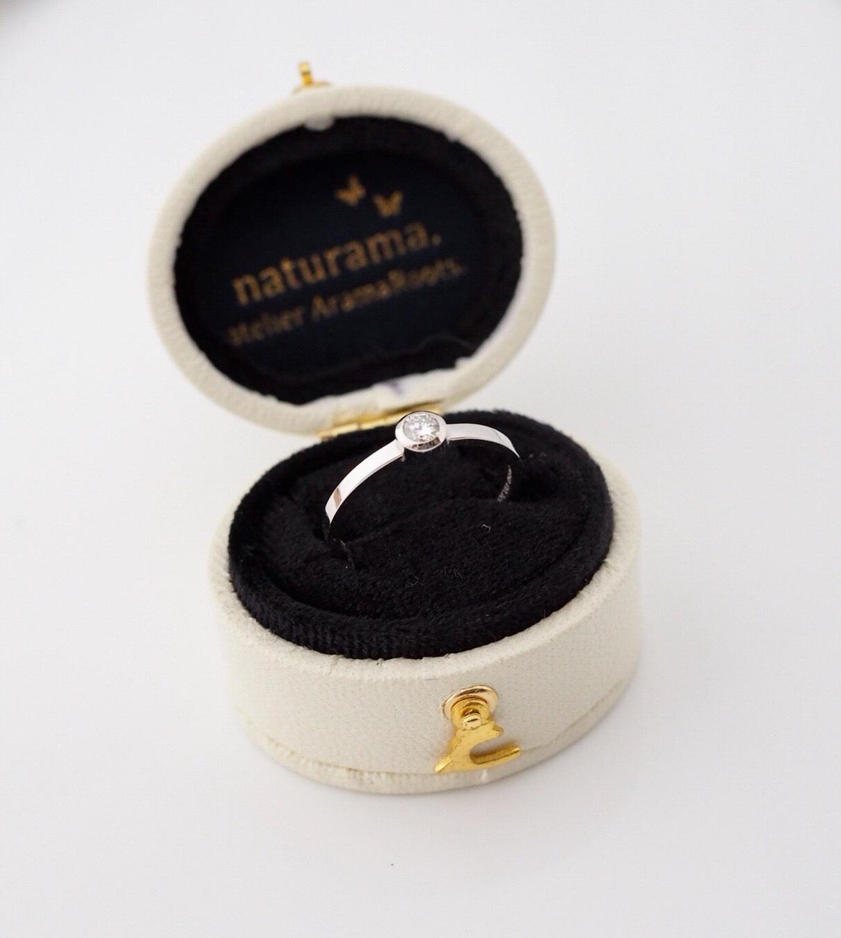 感謝のダイヤモンドの指輪
