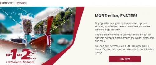 アビアンカ航空 LifeMilesでマイル購入で135%ボーナスマイルキャンペーン