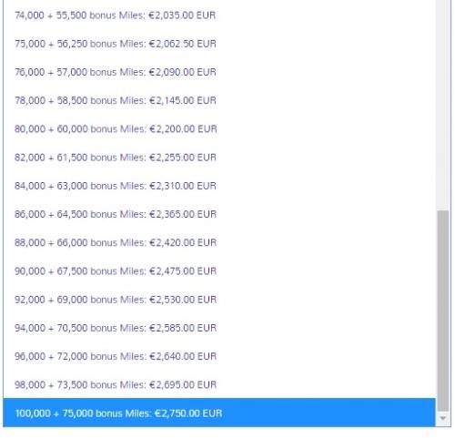 エアーフランスとKLMのフライングブルー マイル購入で75%のボーナスマイル