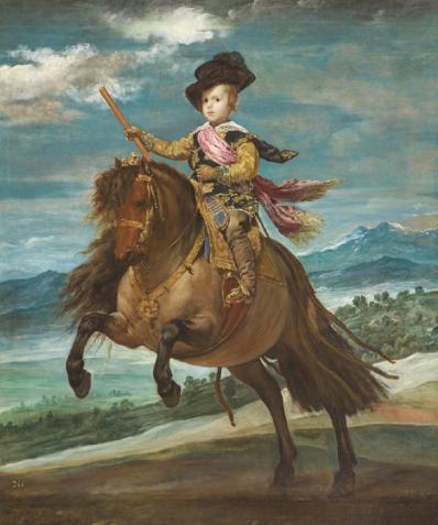 ディエゴ・ベラスケス 王太子バルタサール・カルロス騎馬像