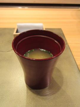 蟹出汁の味噌汁