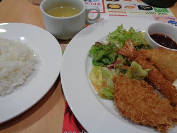 4/26 ガスト・ミックスフライ定食