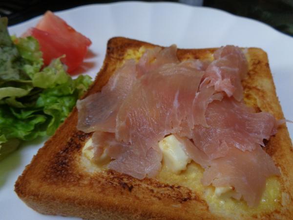 4/8 家食・生ハムとチーズのオープントースト