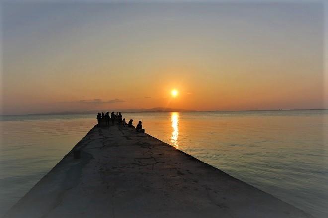 竹富島 西桟橋の夕日(1)