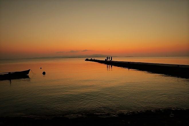 竹富島 西桟橋の夕日(2)