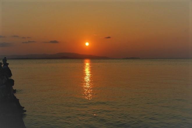 竹富島 西桟橋の夕日(5)