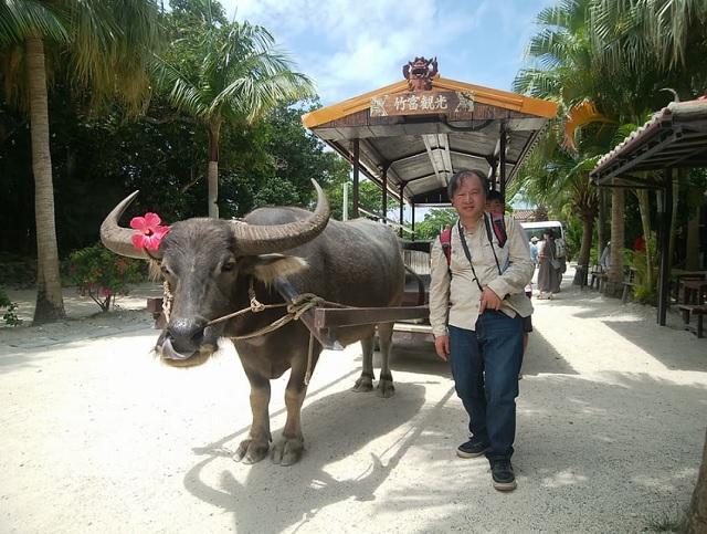 水牛と2ショット