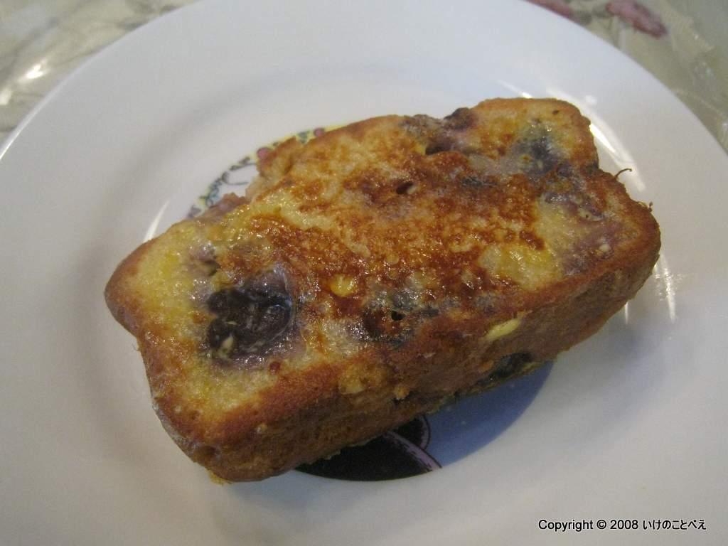 コーンブレッドのフレンチトーストと、プリン風オムレツ