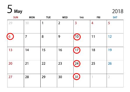 201805カレンダー