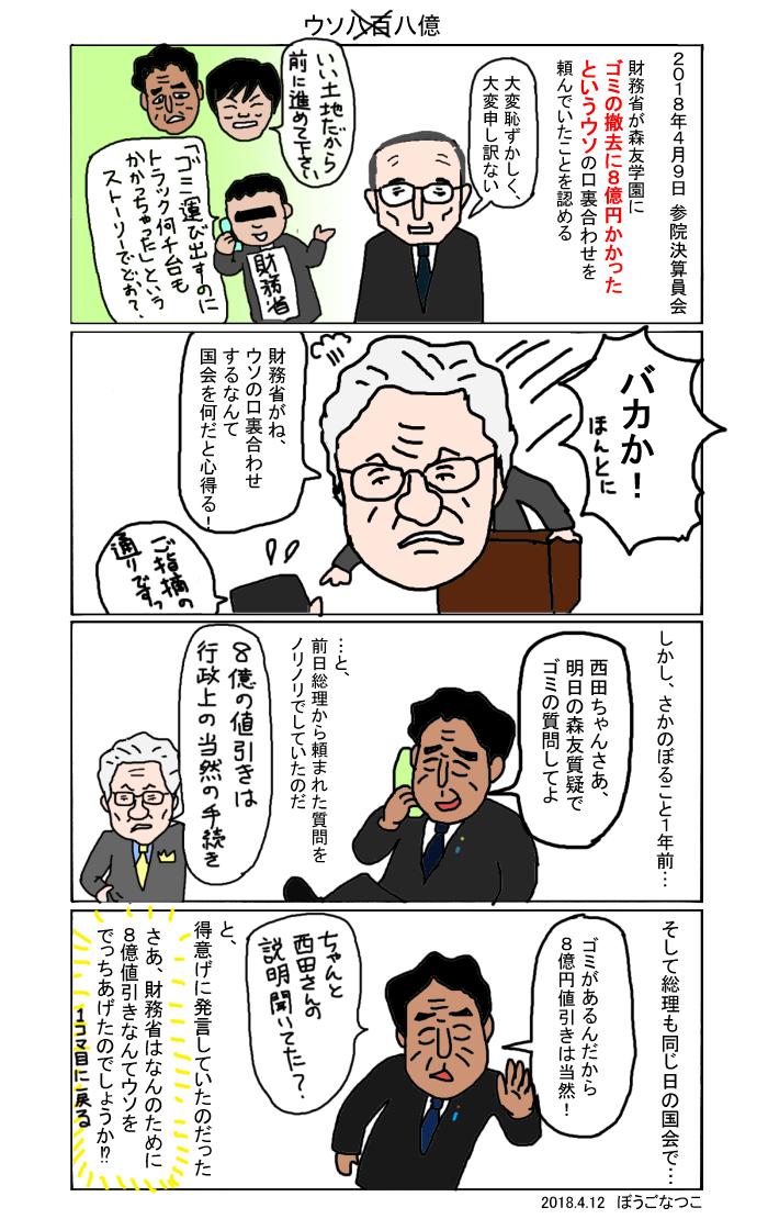 20180412口裏合わせ森友学園ゴミ撤去問題
