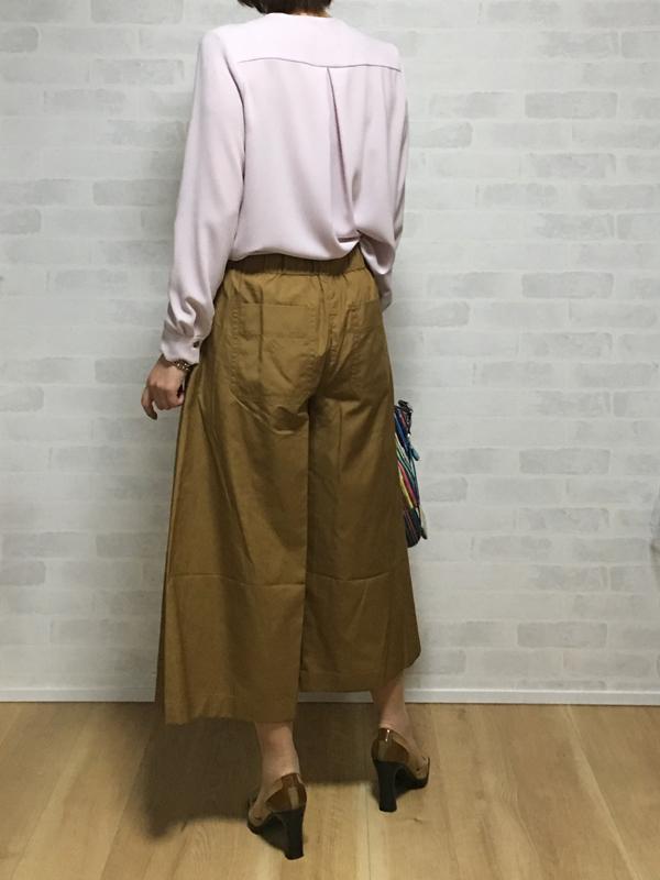 ヴィンスのコットンの巻きスカートみたいなガウチョパンツ