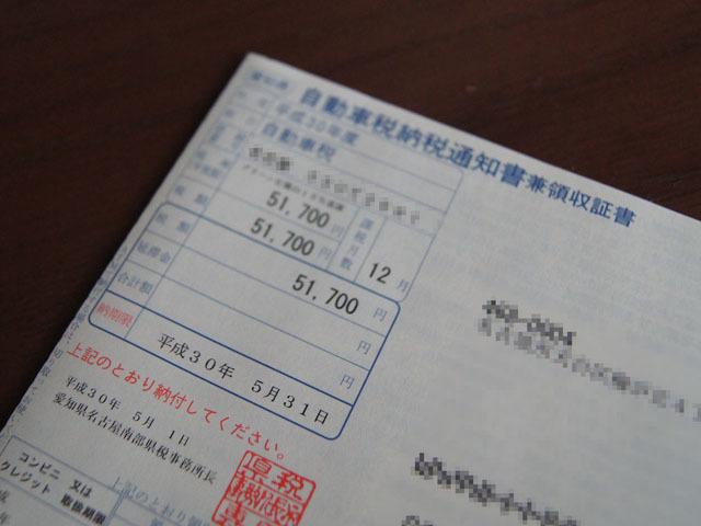 平成30年度自動車税