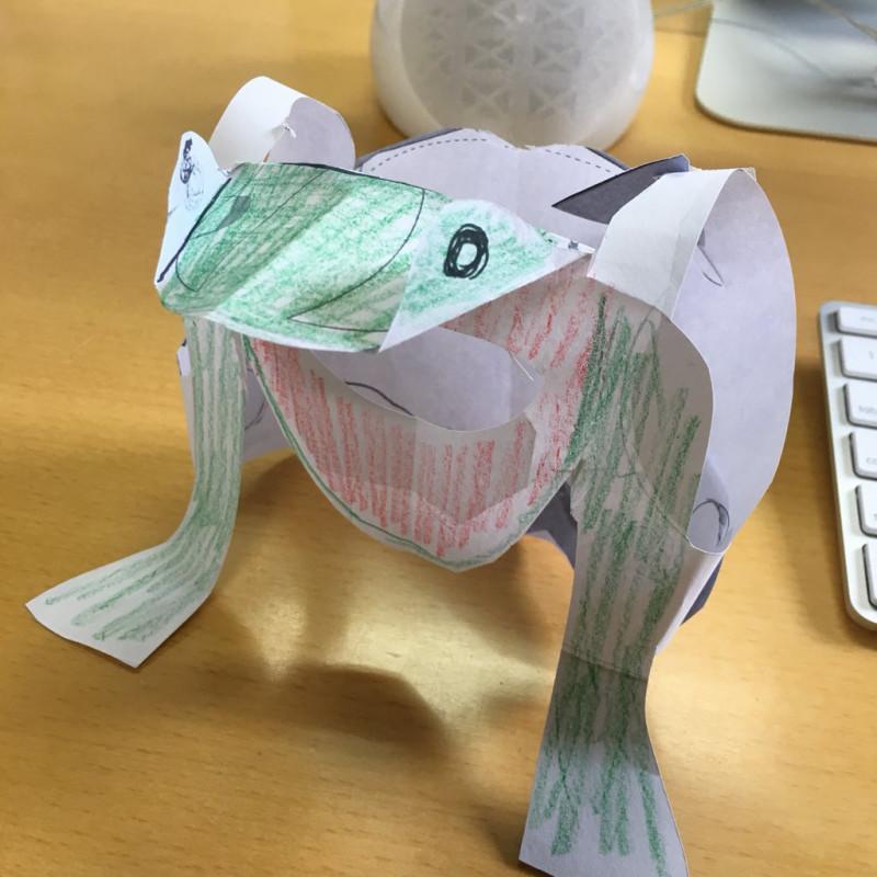 日本の祭りカブリモノ蛙飛び
