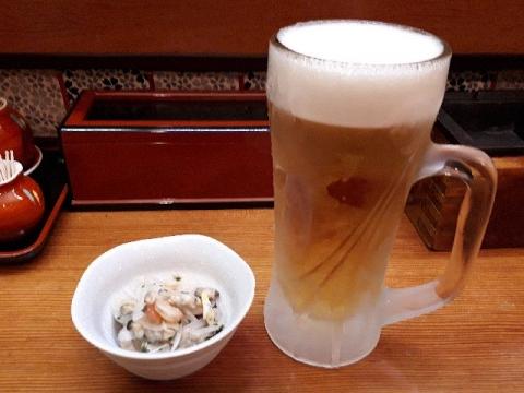 うめもと・H30・4 生ビール
