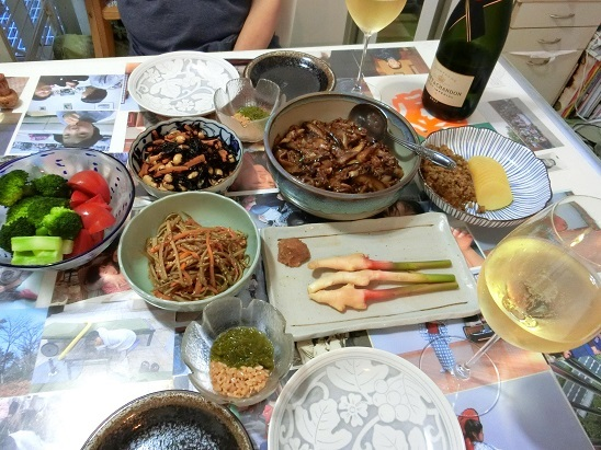 結婚記念日の夕食