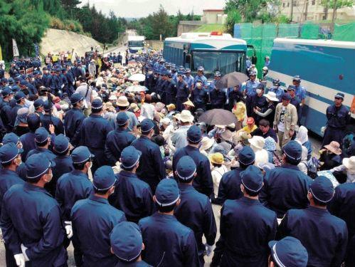 c27b652ea6117ae0ddfb9a74f78c61d9600人抗議「工事やめろ」
