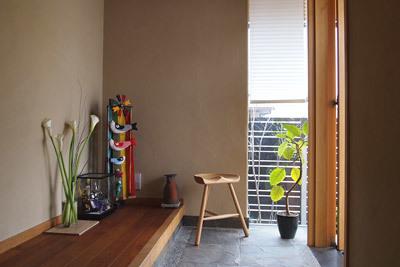 笠岡の家 玄関鯉のぼり