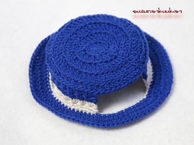 カンカン帽<インクブルー>