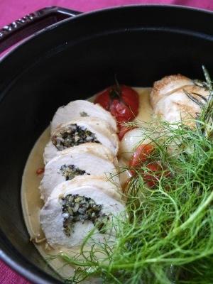 鶏胸肉のハーブロール