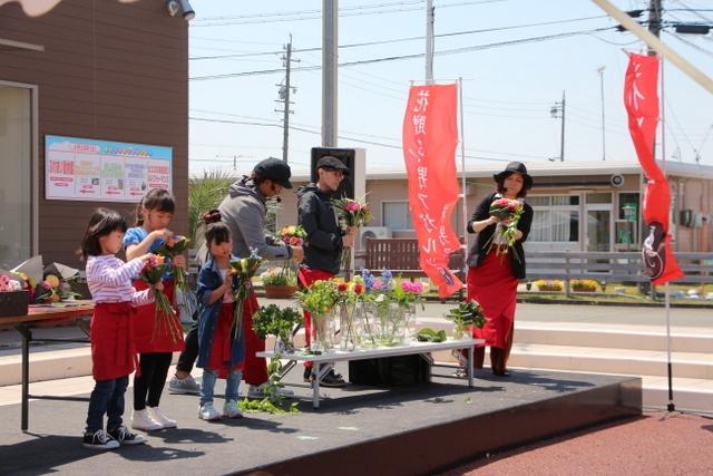 花贈り 花男子 花束 豊橋中日ハウジングセンター イベント