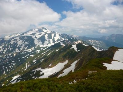 6月初旬、梅雨入り前に別山へ。