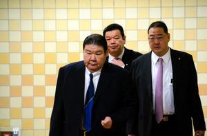 理事会に臨む親方ら=東京・国技館 女人禁制で相撲協会が指針「土俵上がらぬ、受け継がれ」