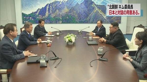 「日本と対話する用意ある」 南北会談でキム委員長が発言
