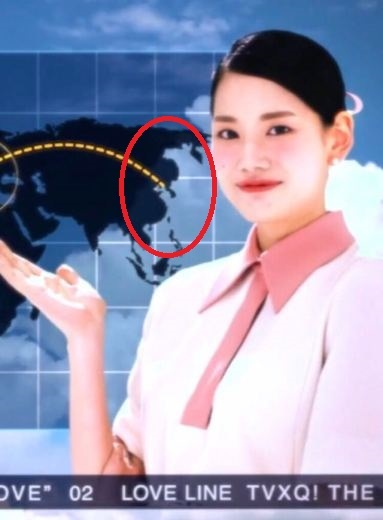 東方神起MVに日本が無い世界地図!「JAP!裕仁!原爆投下」のレッドベルベットは韓国で大出世 反日活動?東方神起 TVXQ! 동방신기 [Love Line] MV 日本地図削除?