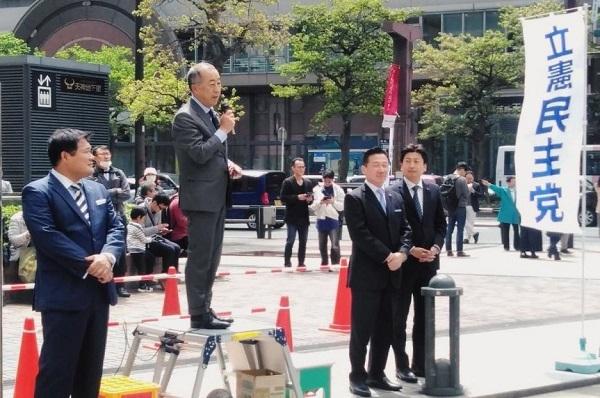 福山哲郎の街頭演説、立憲民主党カメラだと人が多く見える怪奇現象