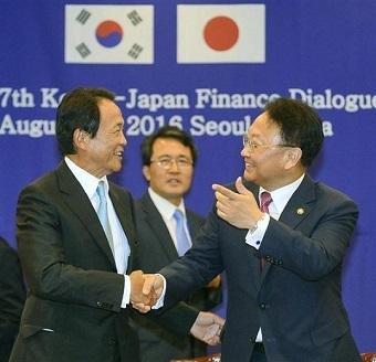 2017年2月14日、2016年8月にサプライズで日韓通貨スワップ協定の再開交渉を提案してきたユイルホ副首相兼企画財政部長官は、日韓通貨スワップ関連の屈辱的な交渉はしないという立場を明らかにした。