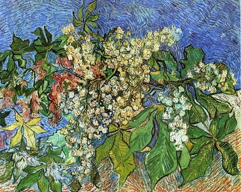 ゴッホ「花咲くマロニエの枝」(1890年