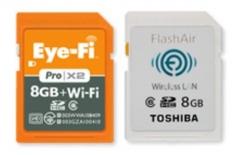 無線LAN搭載SDHCメモリーカード「Eye-Fi」「FlashAir™」対応