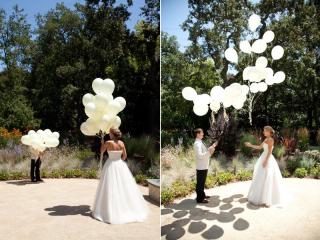 結婚式写真ポーズ_ユニーク_おちゃめ_かわいい_風船を使う