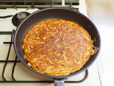 納豆チーズのオープンオムレツ057
