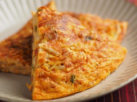 納豆チーズのオープンオムレツ025