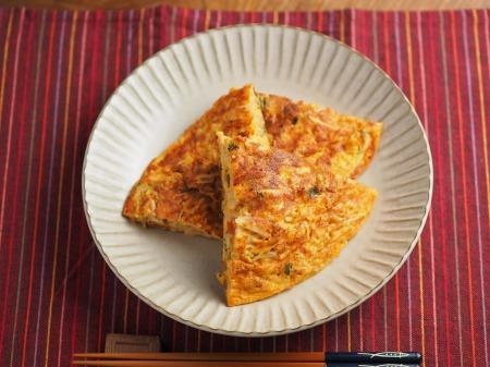 納豆チーズのオープンオムレツ024