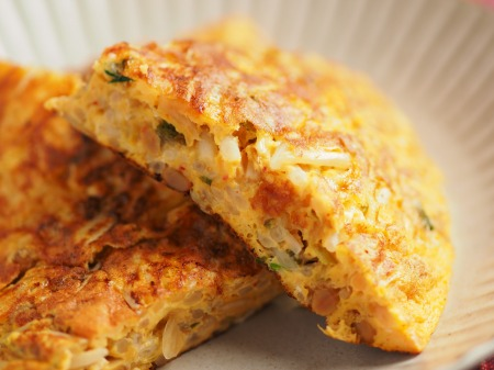 納豆チーズのオープンオムレツ027