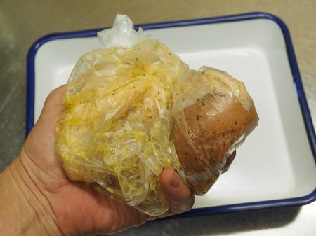 鶏むね肉のガーリック酒塩焼き045